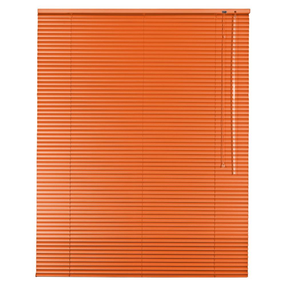 aluminium jalousie alu jalousette jalusie fenster t r rollo h he 60 cm orange ebay. Black Bedroom Furniture Sets. Home Design Ideas