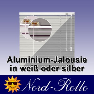 Alu-Aluminium Jalousie Rollo Jalousette 85 x 100 cm / 85x100 cm in Farbe weiss o
