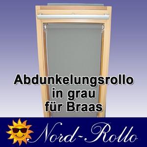 Abdunkelungsrollo Rollo für Braas Holz Typ BK+BL 115/110 grau