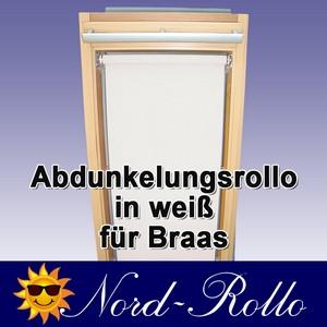 Abdunkelungsrollo Rollo für Braas Holz Typ BK+BL 115/110 weiss