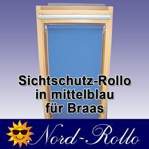 Sichtschutzrollo Rollo für Braas Holz Typ BK+BL 115/140 mittelblau