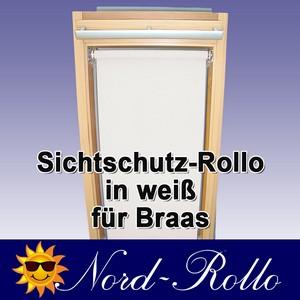 Sichtschutzrollo Rollo für Braas Holz Typ BK+BL 100/140 weiss