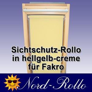 Sichtschutzrollo Rollo für FAKRO Gr.01 FTP PTP 55/78 hellgelb-creme