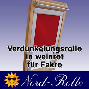 Verdunkelungsrollo Rollo für FAKRO  11 FTP PTP 114/140 weinrot