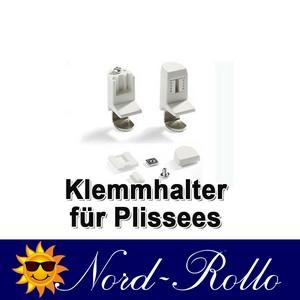 4 Stück Plissee Klemmträger Klemmhalter Träger weiss für Faltstores - Plissees