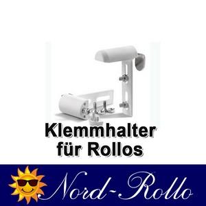 Klemmträger Klemmhalter Rollohalter Träger für Rollo Verdunkelungsrollo weiss