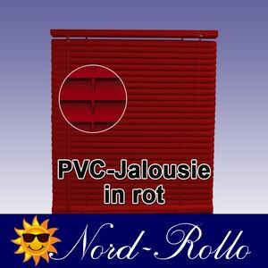 PVC Jalousie Jalousien Jalousette 100 x 160 / 100x160 cm in rot