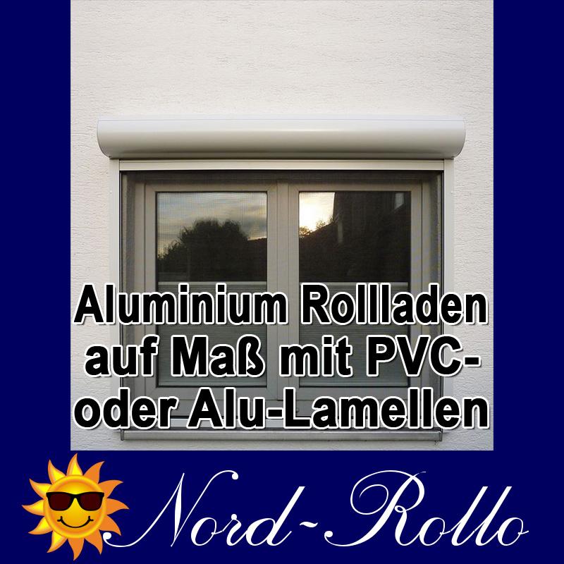 Aluminium Alu-Rollladen auf Maß mit PVC- oder Alu-Lamellen in weiss