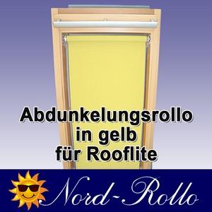 Abdunkelungsrollo Rollo für Rooflite C2A 55x78 gelb