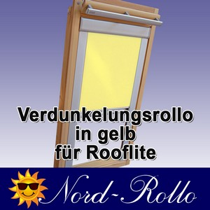 Verdunkelungsrollo Rollo für Rooflite DUR-EP C2A 55x78 gelb