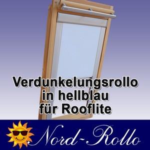 Verdunkelungsrollo Rollo für Rooflite DUR-EP C2A 55x78 hellblau