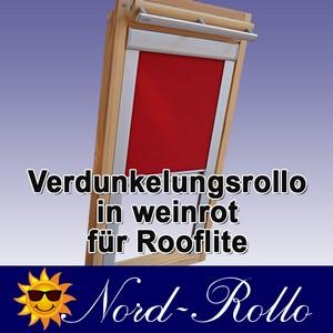Verdunkelungsrollo Rollo für Rooflite DUR-EP C2A 55x78 weinrot