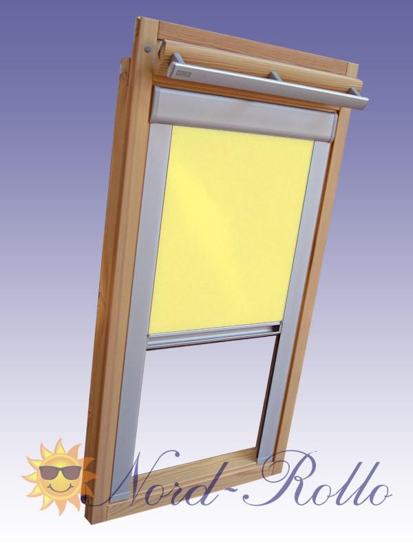 Verdunkelungsrollo Rollo für Rooflite DUR-EP M8A 78x140 gelb