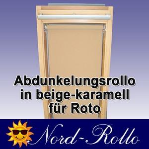 Abdunkelungs-Rollo mit Haltekrallen für Roto 61_,62_,84_ H 10/11 beige-karamell