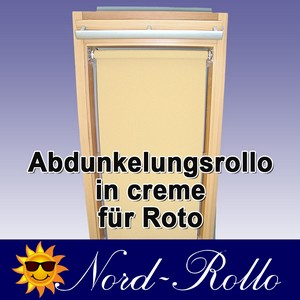 Abdunkelungs-Rollo mit Haltekrallen für Roto 61_,62_,84_ H 10/11 creme
