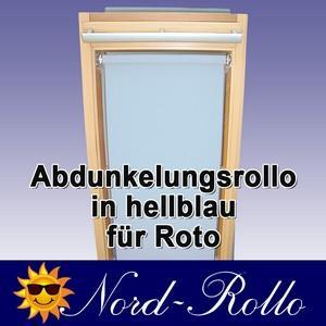 Abdunkelungs-Rollo mit Haltekrallen für Roto 61_,62_,84_ H 10/11 hellblau