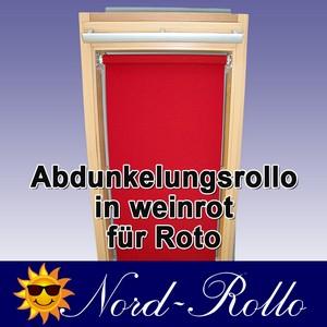 Abdunkelungs-Rollo mit Haltekrallen für Roto 61_,62_,84_ H 11/11 weinrot
