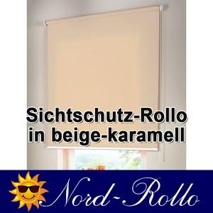 Sichtschutzrollo Mittelzug- oder Seitenzug-Rollo 112 x 260 cm / 112x260 cm beige-karamell