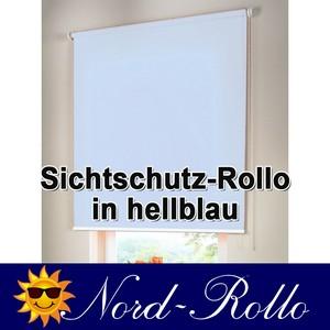 Sichtschutzrollo Mittelzug- oder Seitenzug-Rollo 122 x 160 cm / 122x160 cm hellblau