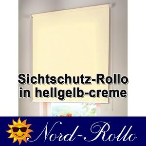 Sichtschutzrollo Mittelzug- oder Seitenzug-Rollo 92 x 230 cm / 92x230 cm hellgel