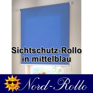Sichtschutzrollo Mittelzug- oder Seitenzug-Rollo 120 x 220 cm / 120x220 cm mittelblau