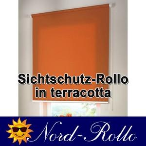 Sichtschutzrollo Mittelzug- oder Seitenzug-Rollo 100 x 100 cm / 100x100 cm terracotta