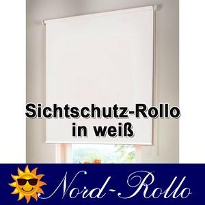 Sichtschutzrollo Mittelzug- oder Seitenzug-Rollo 52 x 190 cm / 52x190 cm weiss