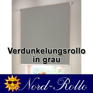 Verdunkelungsrollo Mittelzug- oder Seitenzug-Rollo 125 x 200 cm / 125x200 cm gra