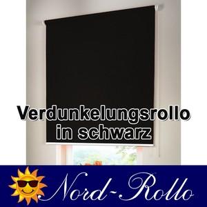 Verdunkelungsrollo Mittelzug- oder Seitenzug-Rollo 230 x 180 cm / 230x180 cm sch