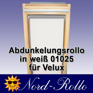 Abdunkelungsrollo Rollo Thermo weiss für Velux DG/RG-EP VL,VG,VX 085 ALU