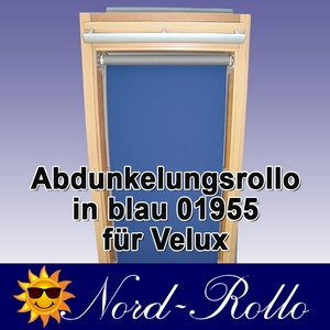 Abdunkelungsrollo Rollo Thermo blau für Velux DJ/RG-EP VK,VE,VS 085 ALU