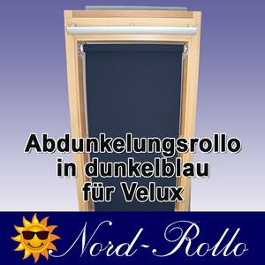 Abdunkelungsrollo Rollo für Velux DG/RG-EP VL,VG,VX 021 dunkelblau