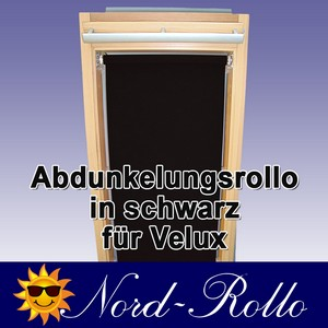 Abdunkelungsrollo Rollo für Velux DG/RG-EP VL,VG,VX 021 schwarz