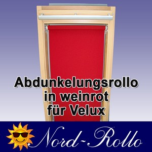 Abdunkelungsrollo Rollo für Velux DG/RG-EP VL,VG,VX 021 weinrot