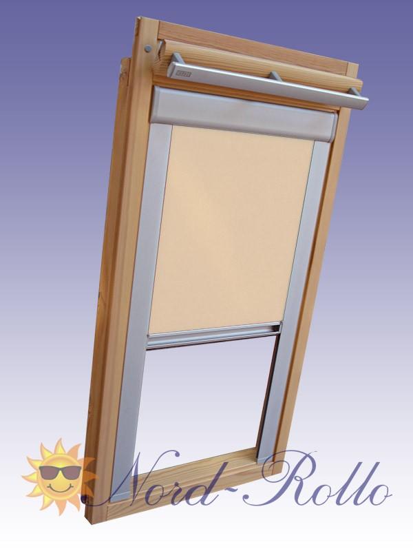 Verdunkelungsrollo Rollo mit Seitenschienen für Velux DG-EP VL,VG,VX 043 beige-karamell
