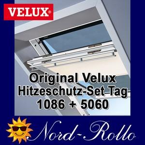 Original Velux Hitzeschutz-Set-Tag Rollo Markise ROP 100 1086 beige/schwarz für GGL/GPL/GHL/GTL/GXL 102/104