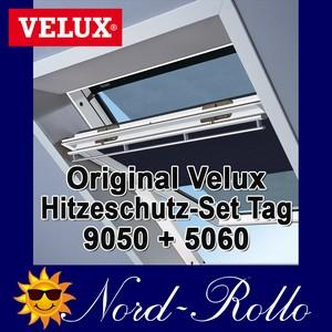 Original Velux Hitzeschutz-Set-Tag Rollo Markise ROP 100 9050 blau/schwarz für GGL/GPL/GHL/GTL/GXL 102/104