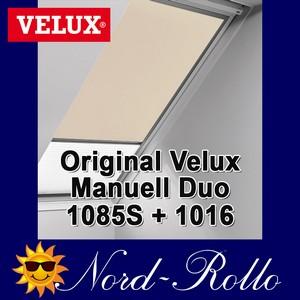 Original Velux Vorteils-Set Verdunkelungsrollo & Faltstore DFD 102 0002S beige/weiß für GGL/GPL/GHL/GTL/GXL 102