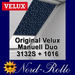Original Velux Vorteils-Set Verdunkelungsrollo & Faltstore DFD 102 0101S dunkelblau/weiß für GGL/GPL/GHL/GTL/GXL 102